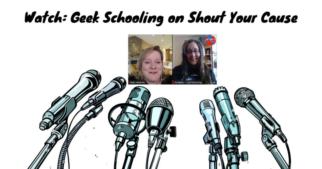 geek schooling on shout your cause